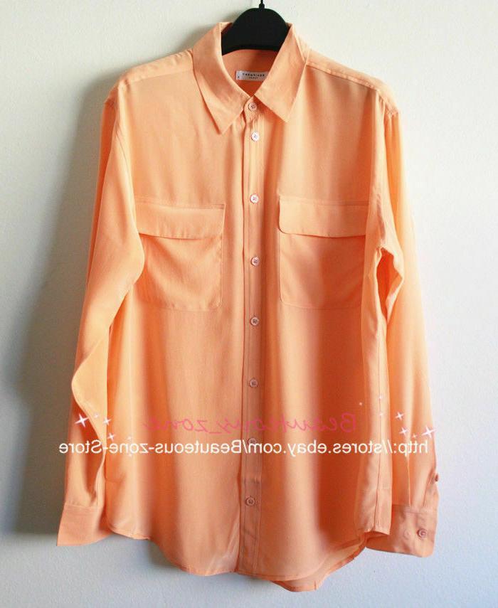 NEW Authentic Equipment Signature Silk Blouse, Multi-color