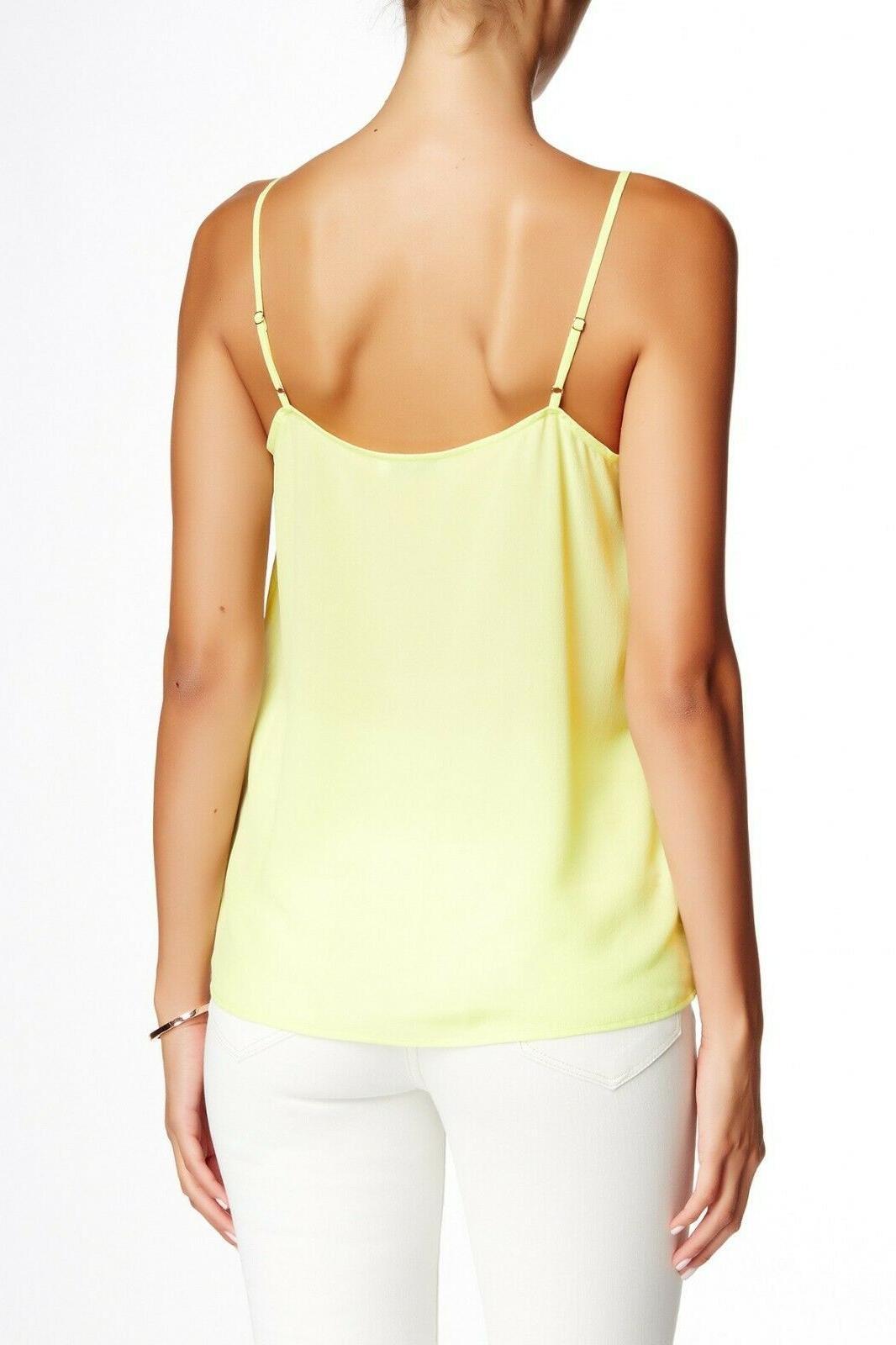 NEW Femme Cara Silk Tank Yellow Sz S