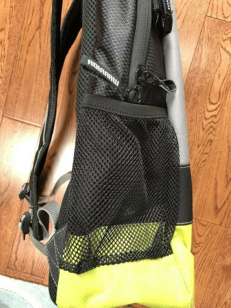 New Warrior Large Black/Chartreuse Backpack Holds Stick