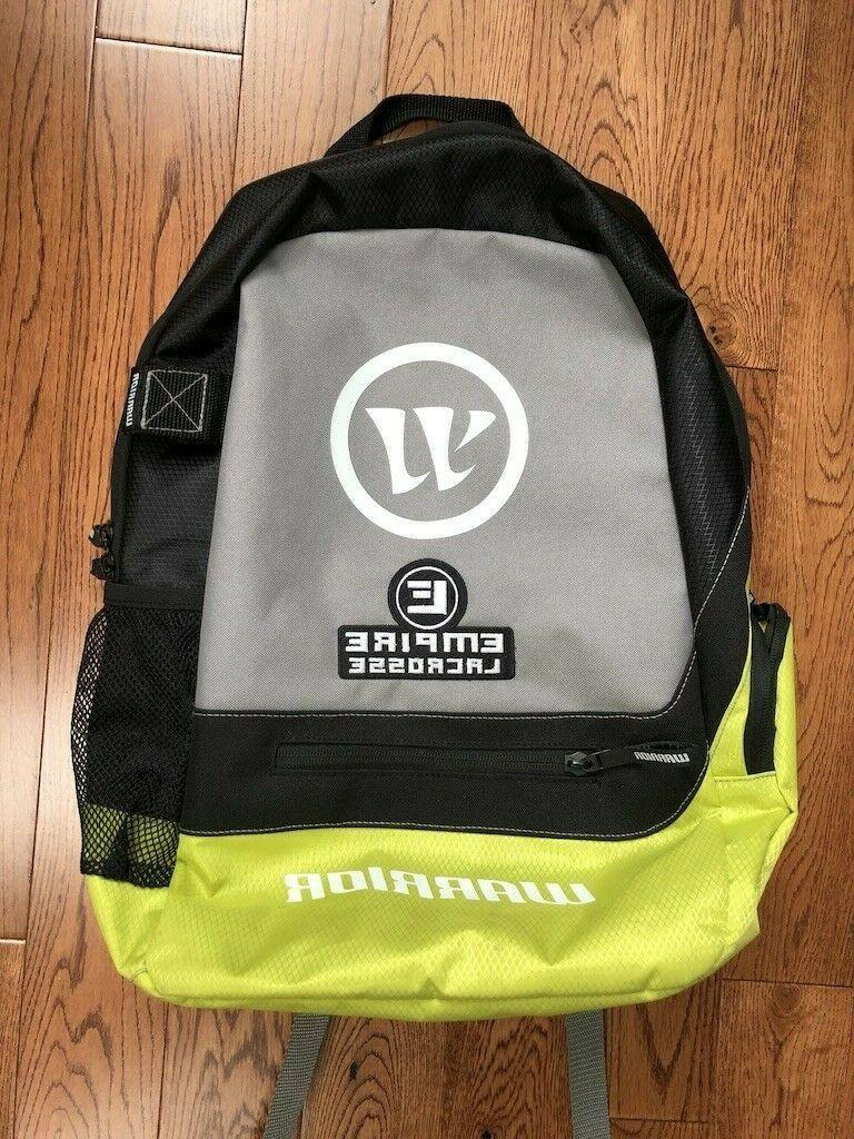 new warrior empire lacrosse large black chartreuse