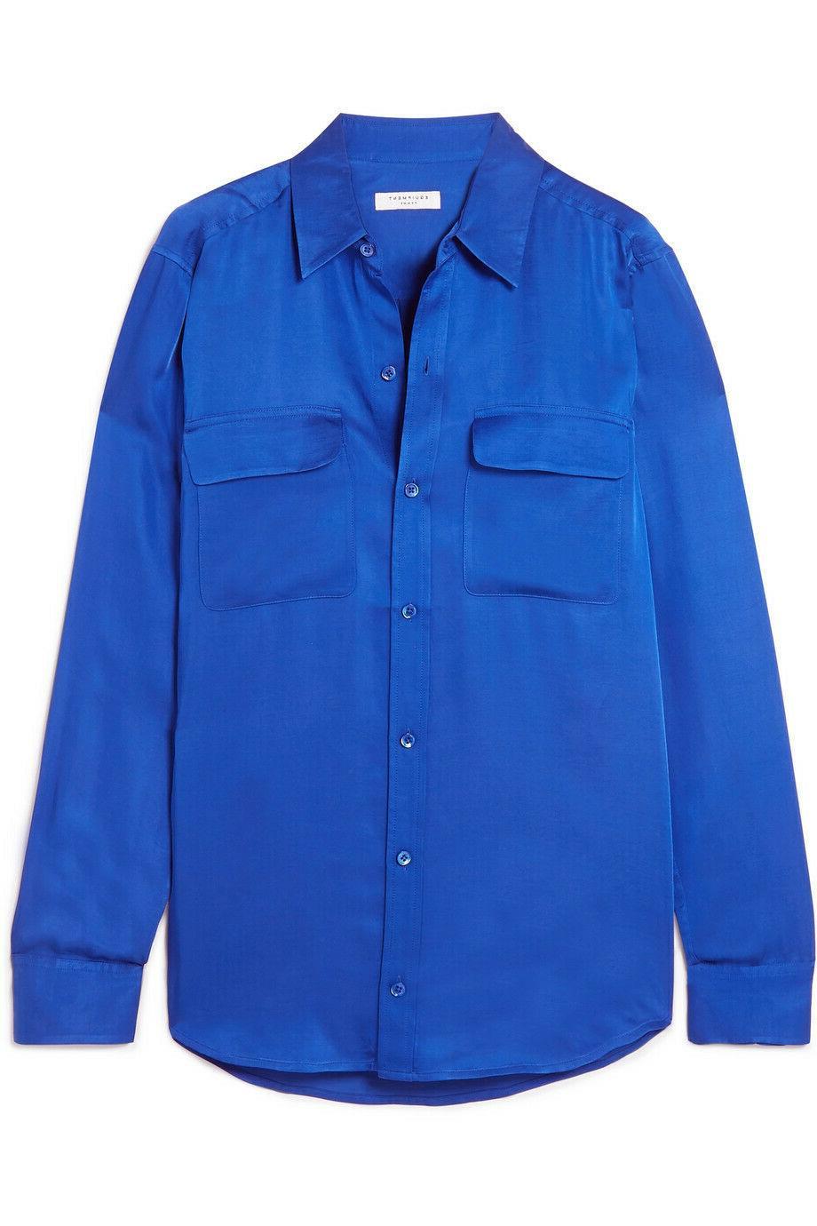 NWOT $230 Blue Satin S