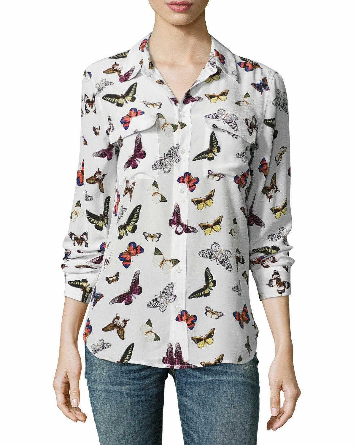 NWOT Button Down Butterfly Sz S