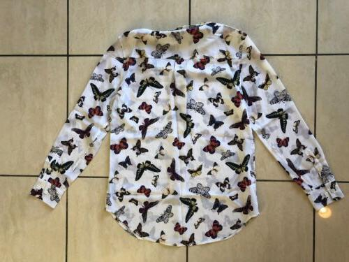 NWOT Equipment Button Down in Butterfly Sz