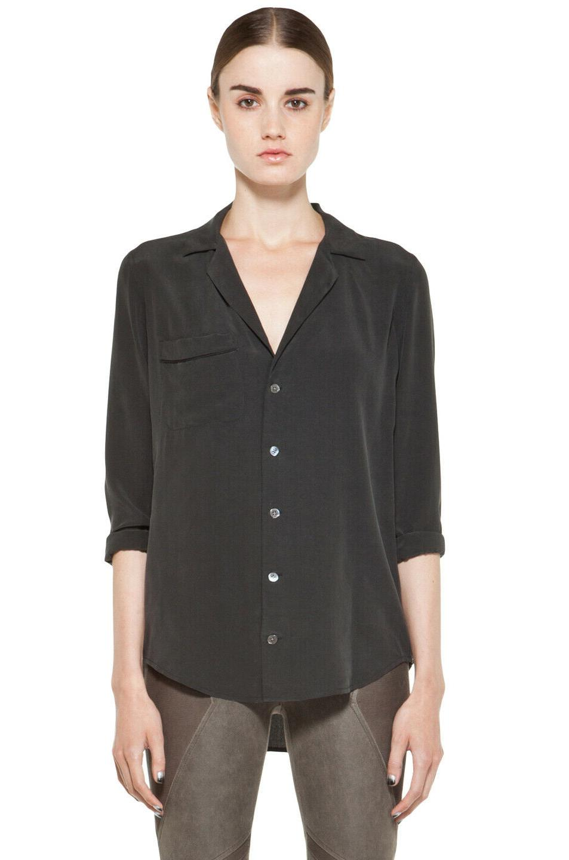 nwt 218 black keira washed silk pajama
