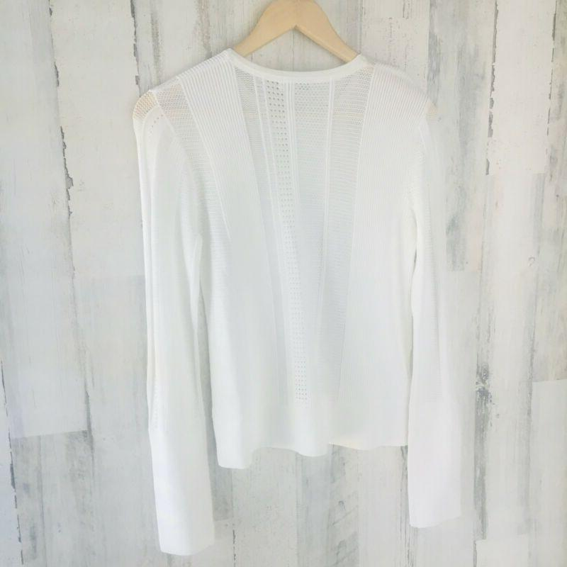 NWT $280 EQUIPMENT FEMME Laurier Sweater White Knit