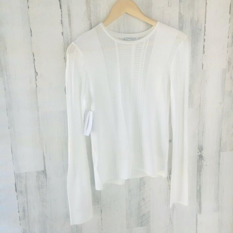 nwt 280 femme laurier sweater white open