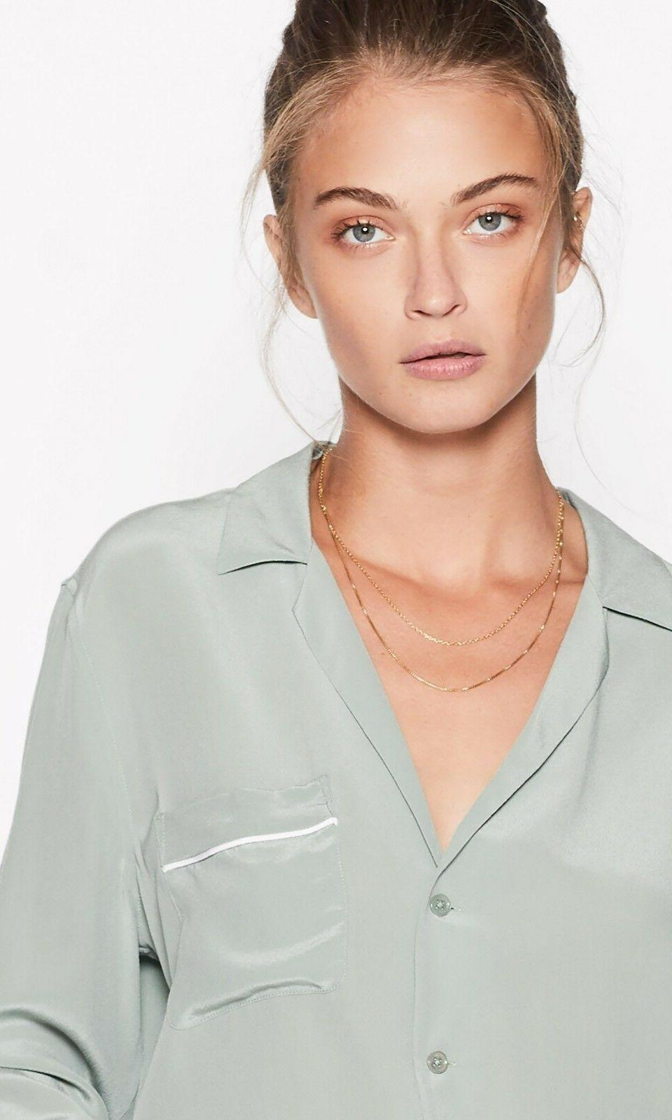 NWT Equipment Keira Shirt Olive Size