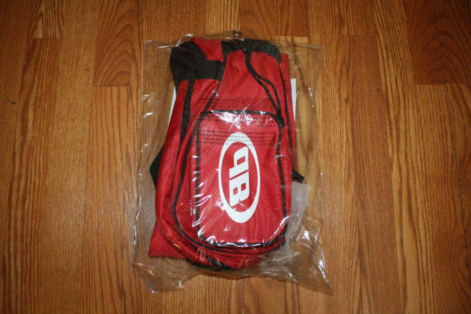 NWT DEBEER Lacrosse Red Pocket Bag