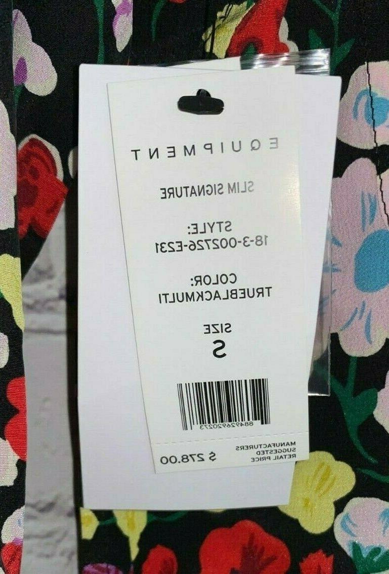 NWT EQUIPMENT Womens Floral Slim Sleeve $278.00