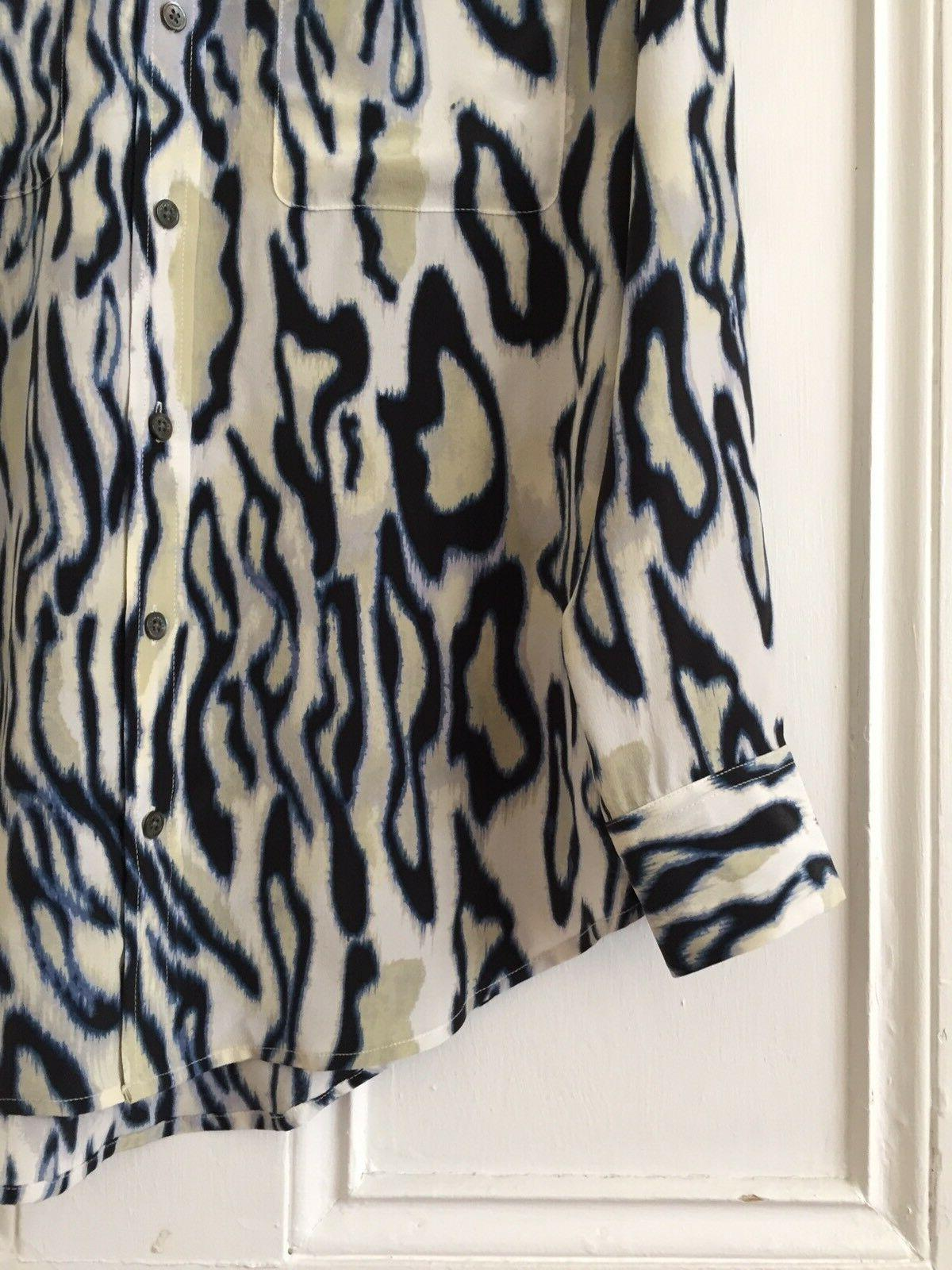 Equipment Signature Silk Shirt Blouse Animal Blue