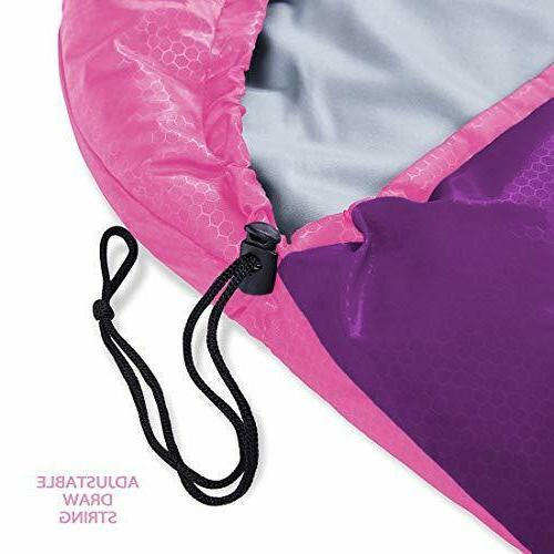 oaskys Camping Sleeping Bag - Camping Gear Traveling, Pink