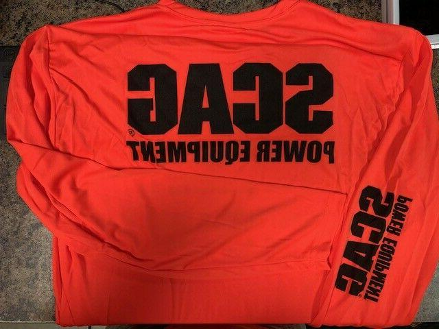 orange scag power equipment long sleeve t