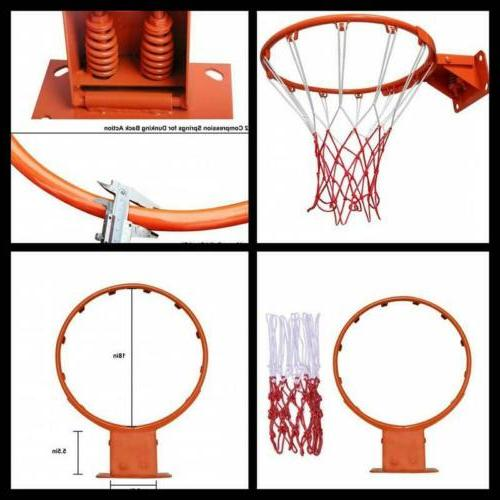 Outdoor Replacement Basketball Rim Compact Sports Equipment