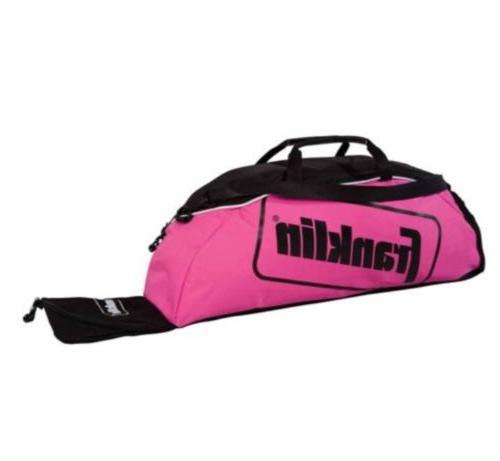 Franklin Sports Pink Equipment Bag Baseball Softball Bat Gea
