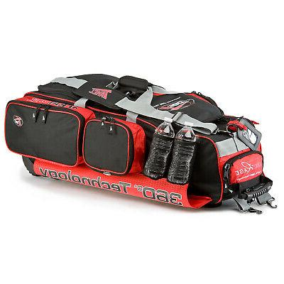 Tanel 360 R.A.G.E. Baseball/Softball Wheel Bag - Black/Red