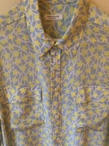 Equipment silk blouse EUC
