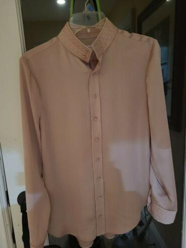 silk blouse small