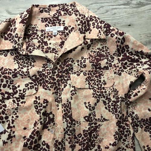 Equipment Slim Multi Button Shirt Blouse NEW