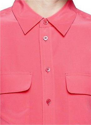 """Equipment """"SLIM Signature"""" Silk Shirt $214, Pink,"""