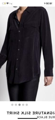 equipment signature Size S True Black Shirt Silk