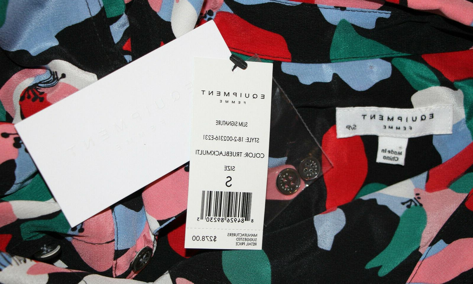 Equipment Slim Shirt In True Multi sz S $278