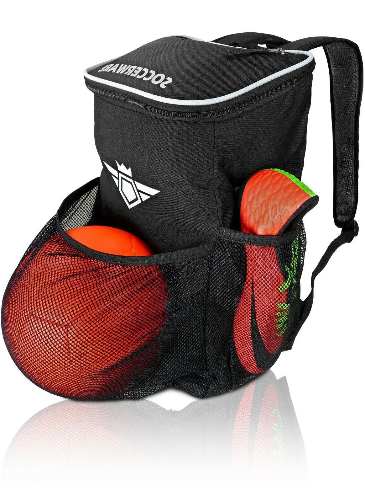 soccer backpack with ball holder compartment kids