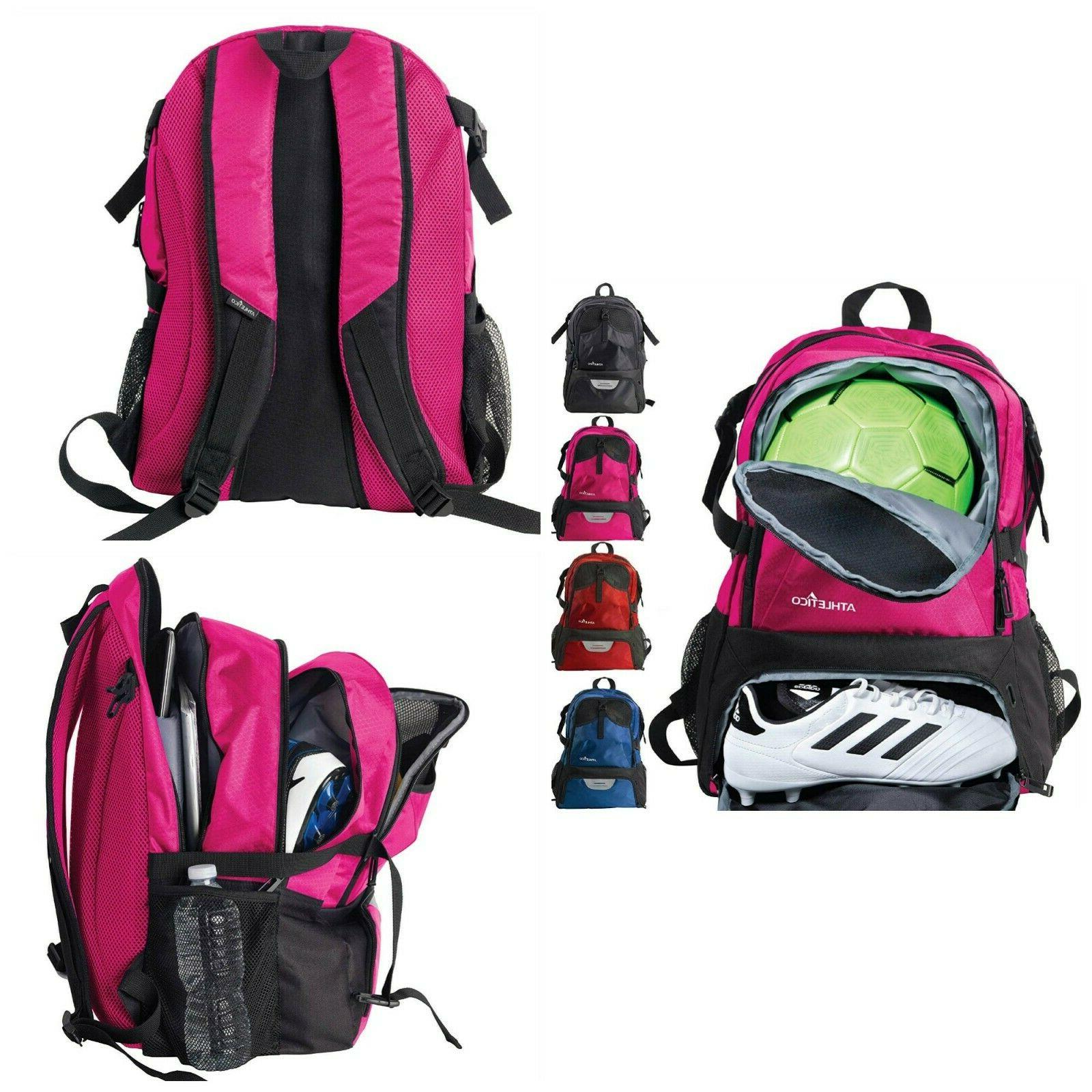Soccer Ball Backpack Adjustable Straps Accessories Organizer