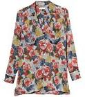 EQUIPMENT Sonny Silk PJ Top Shirt in Rouge Multi Floral Prin