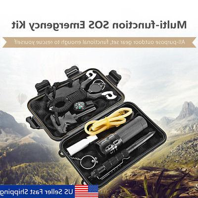 SOS Emergency Survival Equipment Kit Outdoor Tactical Hiking