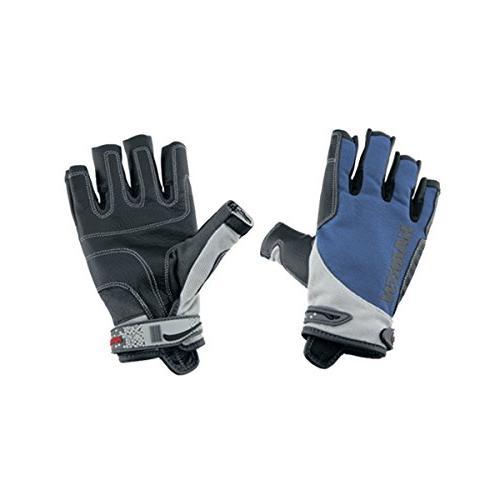 spectrum 3 4 finger gloves blue medium