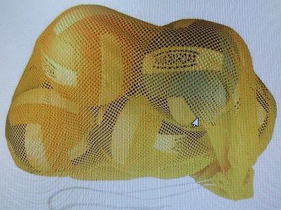 sports equipment mesh storage bag basketball soccer