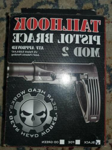 tailhook pistol brace mod 2 black