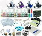 Tattoo Kit 4 Machine Set Equipment Power Supply 40 Color ink