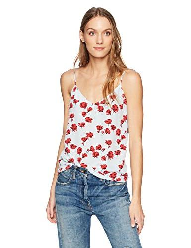 tossed poppies printed layla cami