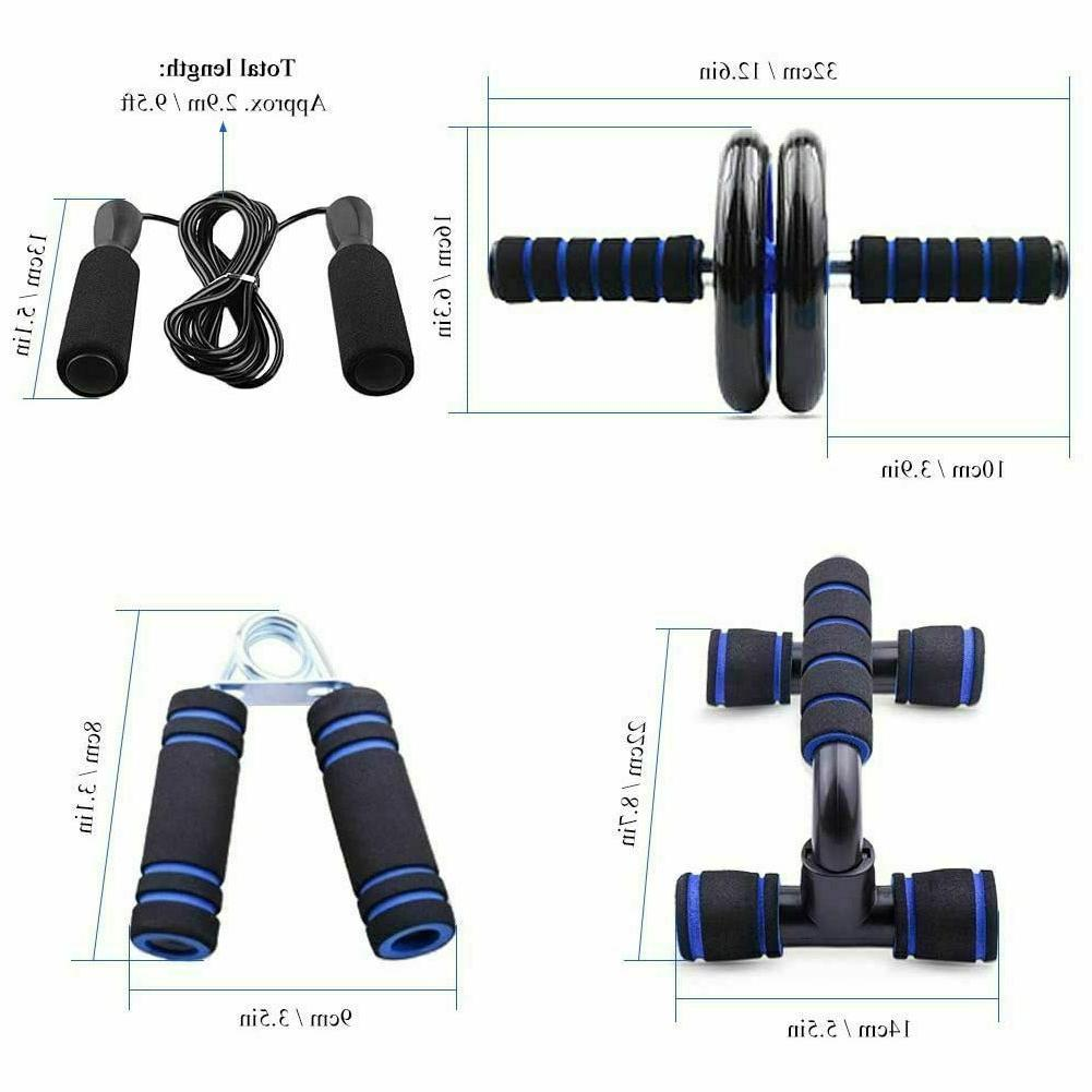 US Ab Roller Workout Equipment Abdominal Exercise Fitness