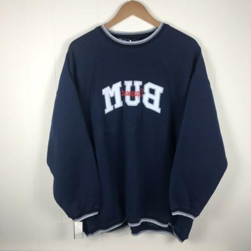 vtg bum equipment printed spellout crewneck sweatshirt