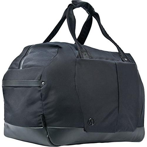 weekender bag black waxed kodra