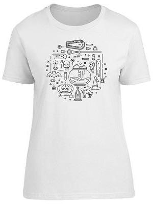 Witch Equipment Doodles Women's Tee -Image by Shutterstock