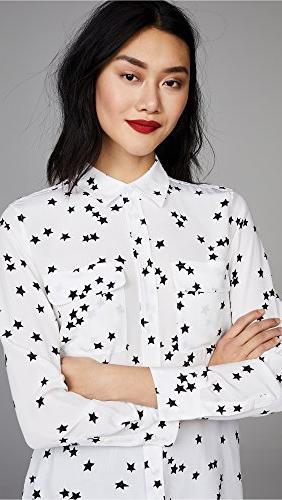 Equipment Women's Signature Blouse, Bright White, Small