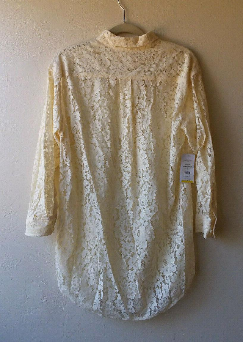 Equipment Femme Long Sleeve Top Lace Size S