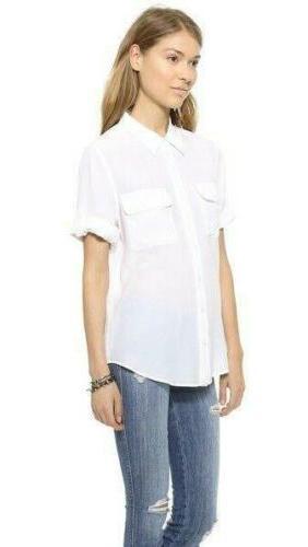 Womens 100% Short Tops Shirt Black SZ