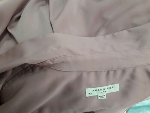 Equipment button down shirt light mauve blouse