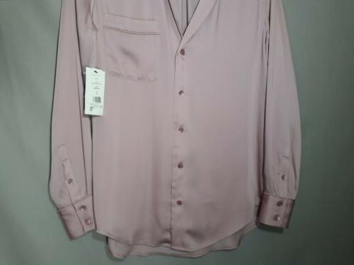 Equipment womens small mauve pink top
