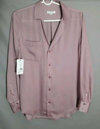womens small keira button down shirt light