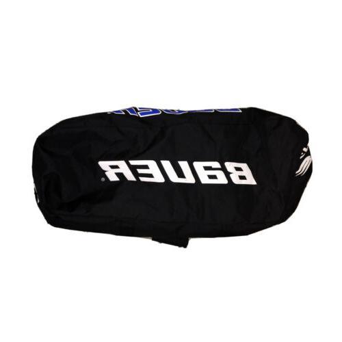 Bauer XL Gear Bag 38x28 Zippered Black Blue White