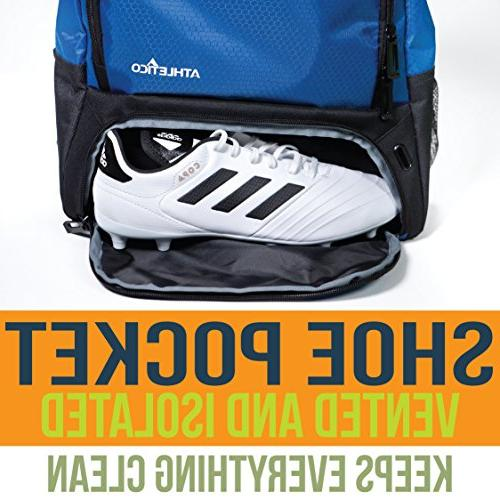 Athletico Soccer - Backpack Bags for & Kids, Youth, | and Ball Compartments