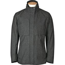 laminated wool jacket charcoal herringbone