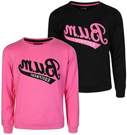 B.U.M. Equipment Girls Long Sleeve Fleece Pullover Sweater,