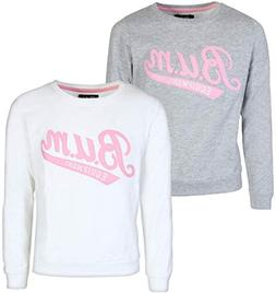 B.U.M. Equipment Girls Long Sleeve Fleece Pullover Sweatshir