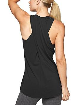 Mippo Women's Loose Workout Gym Tops Sexy Cross Back Long Fl